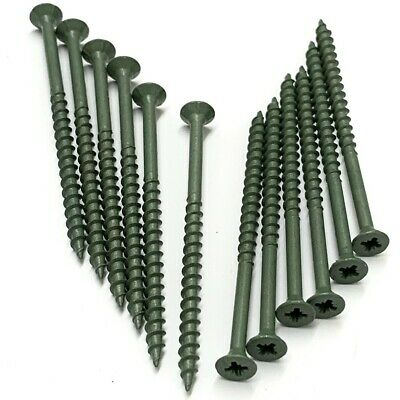 In-Dex External Decking Timber Pozi Double Countersunk Wood Screws Green Coated