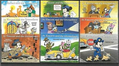 St. Vincent and the Grenadines - Disney 1996 - Mickey's Law & Order MNH Set
