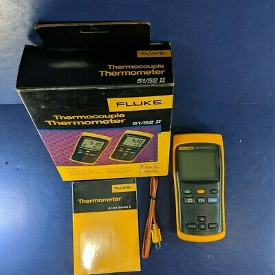 Brand New Fluke 51 II Thermocouple Thermometer, Original Box, See Details