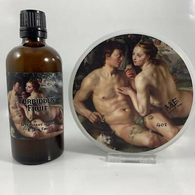 Forbidden Fruit Shaving Soap and Aftershave Splash - by Ariana & Evans (Pre-Owne