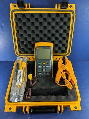 Fluke 54 II B Thermometer, Screen Protector, Excellent, Hard Case