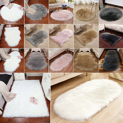 Fluffy Area Rug Cushion Anti-Skid Yoga Carpet for Living Room Bedroom Sofa Floor