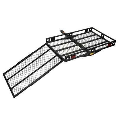 New Steel Black 500Lbs Wheelchair Pedal Scooter Loading Ramp Rack Carrier