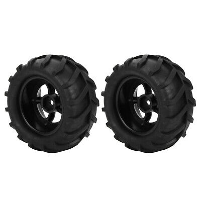 RC Car 12mm Wheel Hub 82mm Rubber Tyres for 1:16 RC Monster Bigfoot Truck