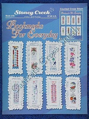 Cross Stitch Pattern Bookmarks For Everyday 16 Designs Flowers Frog Teacher