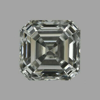 3.84CT Emerald Cut 9.35 mm Off White Grey Moissanite Loose GemStone Excellent