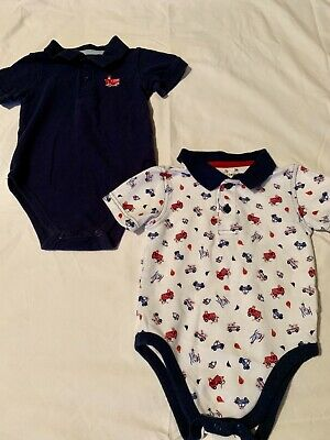 Cotton Polo Style Bodysuits, 24 Month, Jumping Beans