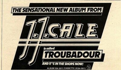 11/9/76pgn15 J J Cale- Troubador Album Advert 5x8