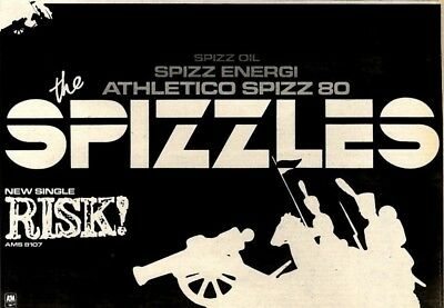 """21/2/81Pgn24 Advert: The Spizzles Brand New Single 'risk' Out Now 7x11"""""""