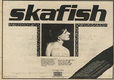 26/7/80Pgn30 Advert: 'skafish' The Debut Album On Illegal Records Now 7x11