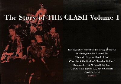23/3/91Pgn44 Advert: 'the Story Of The Clash. Volume 1' Double Album 7x11