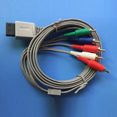 5 RCA 6 Ft Component AV Cable Cord For Nintendo Wii HDTV HD Game Player Cable