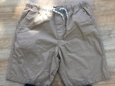 2 X Boys Next Light Brown Chino and Blue Cotton Elasticated Waist Shorts Age 12