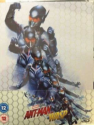 ANT MAN AND THE WASP - 3D BLURAY Steelbook 2018 BRAND NEW! UK Import All Region