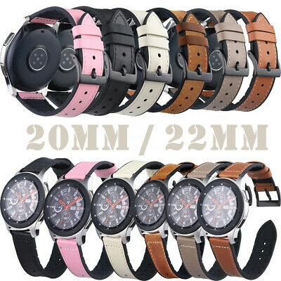 20mm 22mm Silicon Leather Sport Watch Band Replacement Quick Release Wrist Strap