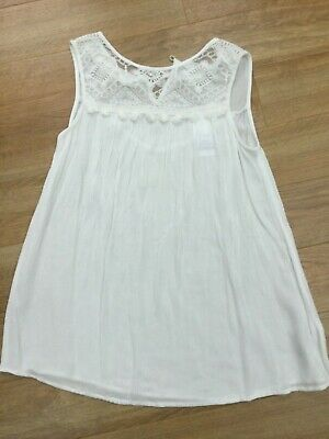 Matalan Candy Couture Girls Cream/off white Top Age 14 Years Sleeveless BNWT
