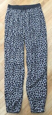 H&M Girls Grey with black print  Pants/trousers. Age 14 years