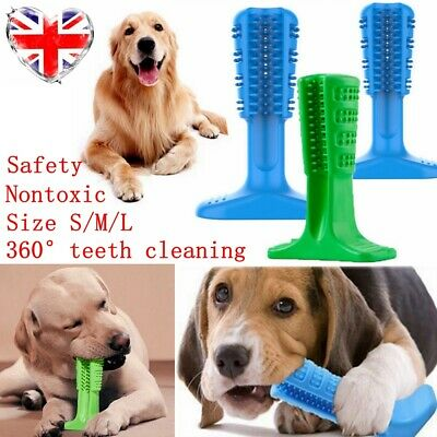 Dog Toothbrush Toy Clean Teeth Brushing Stick Pet Brush Mouth Chewing Cleaner