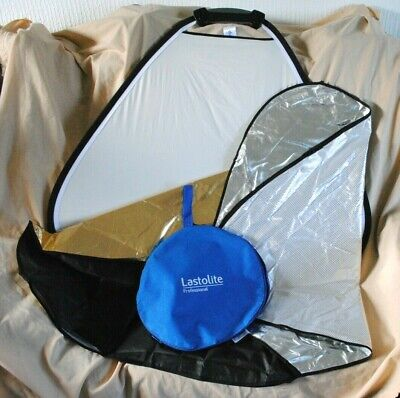Lastolite TriGrip 75cm photographic reflector with two reversible sleeves.