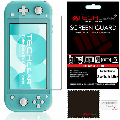 TECHGEAR Clear Screen Protector Guard Cover for Nintendo Switch Lite Console
