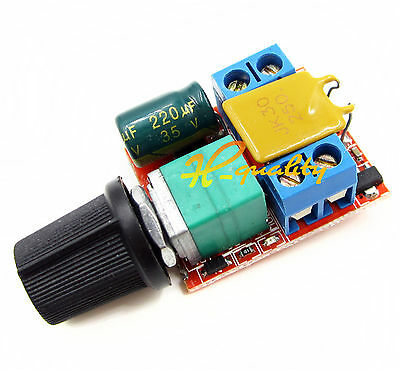 Mini DC 5A Motor PWM Speed Control 3-35V Speed Control Switch LED Dimmer UK