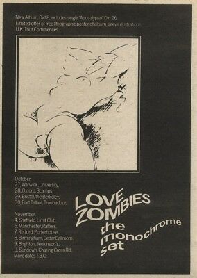 18/10/80Pgn47 Advert: Love Zombies 'the Monochrome Set' The New Album 7x5