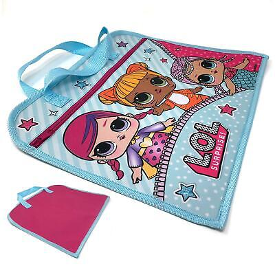 L.O.L SURPRISE! Blue Zipped Cartoon Dolls Print Book Bag For Girls & Young Teens