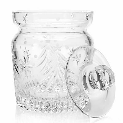 Waterford Crystal Christmas Nights 6.5 Star and Wedge Cut Biscuit Barrel