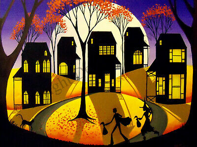 Dollhouse art 1.5x2 giclee print TRICK OR TREAT 7 Halloween costume princess  DC
