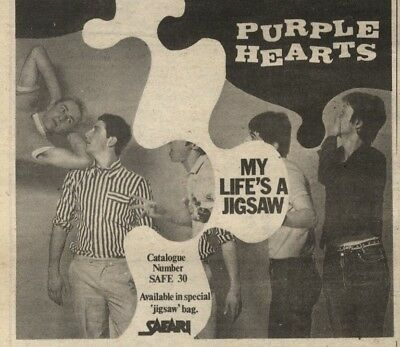 18/10/80Pgn14 Advert: Purple Hearts 'my Life's A Jigsaw' Available Now 5x5
