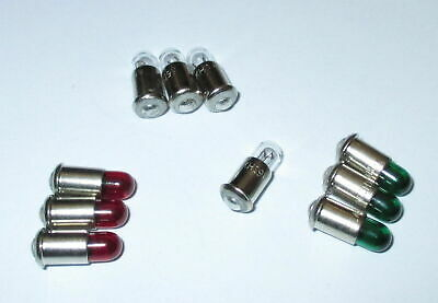 Spare Bulbs MS4 Red, Green,Clear - 19V - Color of Your Choice 10 Piece New