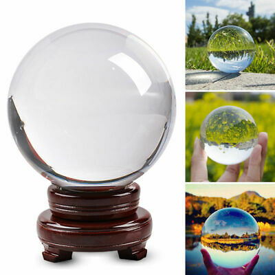 Clear Glass Crystal Ball Healing Sphere Photography Props Lensball Deco 60/100mm