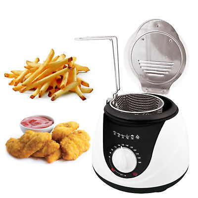 Quest 1 Litre Electric Mini Deep Fat Fryer, Fish Chip Non Stick Pan 900 Watt