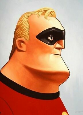 Mr. Incredible Poster - Mondo - Mike Mitchell - Limited Edition - Incredibles!