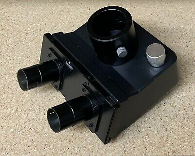 Leitz Trinocular Microscope Head Part # 512731 With Polarizing Polarizer POL