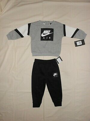 NWT Nike AIR Baby Boys 2pc sweatshirt and pants outfit set, size 18M & 24M