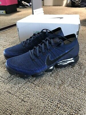 Nike Air Vapormax Flyknit 849558-400 Midnight Navy Size 11