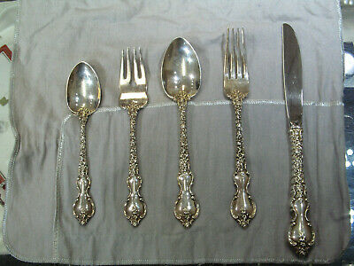 International Du Barry 86pcs Sterling Silverware Service for 16 & Serving Pieces