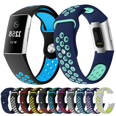 Breathable Silicone Sport Soft Band For Fitbit Charge 3 Watch Strap Replacement