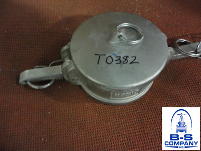 "3"" 300DC Stainless Steel Dust Cap Camlock Fitting"