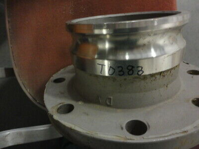 """6"""" 600AL-SS Stainless Steel Flanged Coupler Camlock Style Fitting"""