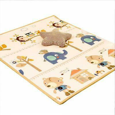 Folding Baby Play Mat Extra Large Reversible Crawling Non-Slip For Toddler DN
