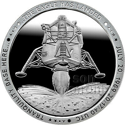2019 Apollo 11 Series - 50th Anniversary 1oz Silver Coin #2 THE EAGLE HAS LANDED