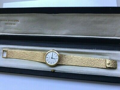Very Rare Ladies Patek Philippe 4184 Calatrava Bracelet Watch in 18K Gold