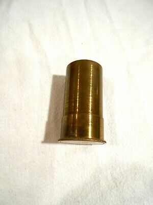 Vintage Bausch & Lomb Optical CO Brass Lens Case 2""