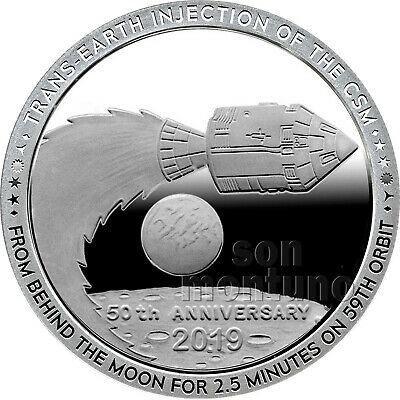 2019 Apollo 11 Series - 50th Anniversary Moon 1oz Silver Coin #7 - EARTHBOUND