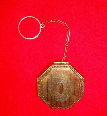 Vintage Silver Compact with Finger Ring