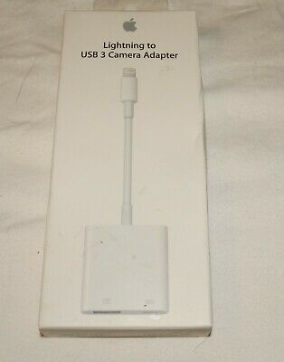 Ligntning to USB 3 Camera Adapter NEW NIB Apple A1619 White A/V Cable