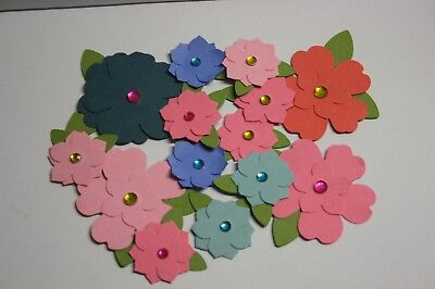 Handmade Paper Flower Embellishments  Scrapbooking card making 14