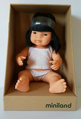 Miniland Baby Doll Asian Girl 38cm Vanilla Scented Anatomically Correct